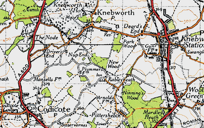 Old map of Rableyheath in 1946