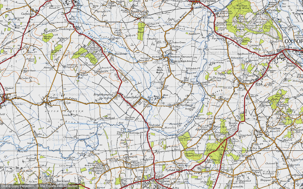 Old Map of Historic Map covering Linch Hill in 1947