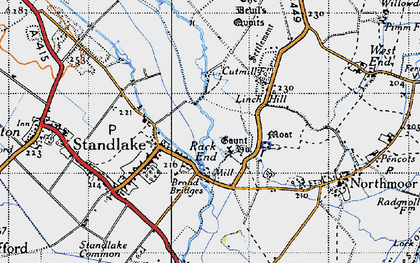 Old map of Linch Hill in 1947