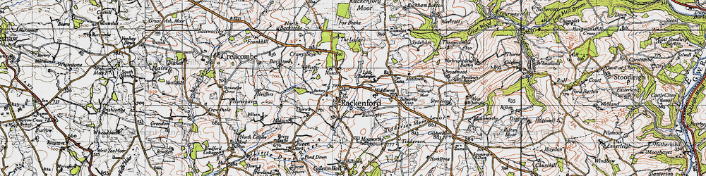 Old map of West Whitnole in 1946