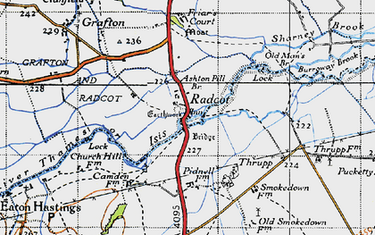 Old map of Radcot in 1947