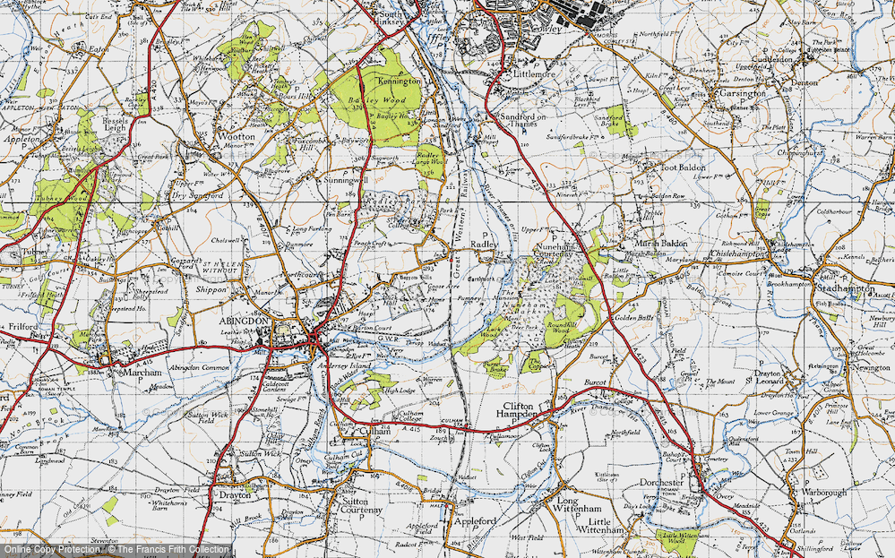 Old Map of Radley, 1947 in 1947