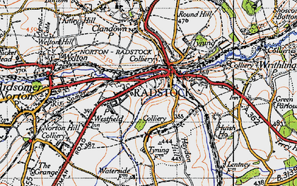 Old map of Radstock in 1946