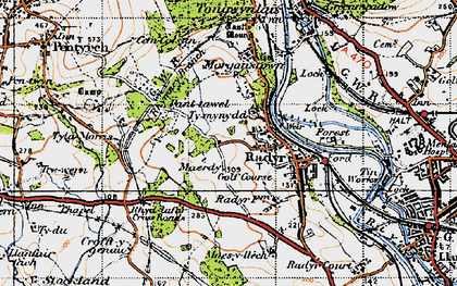 Old map of Radyr in 1947