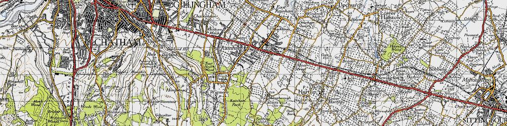 Old map of Rainham in 1946