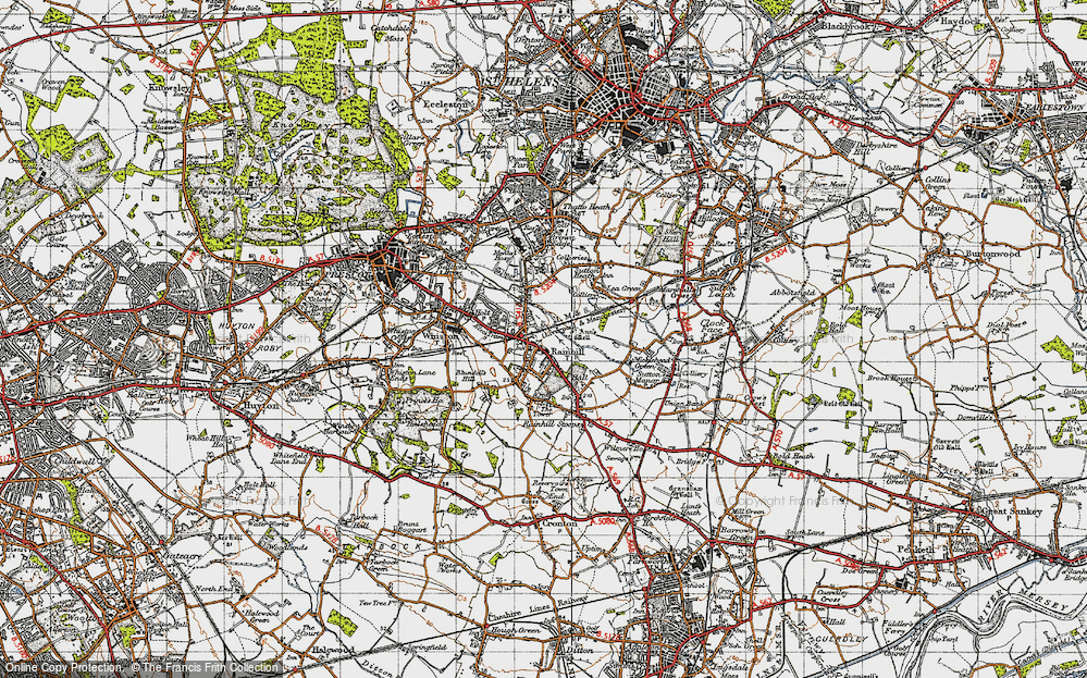 Old Map of Rainhill, 1947 in 1947