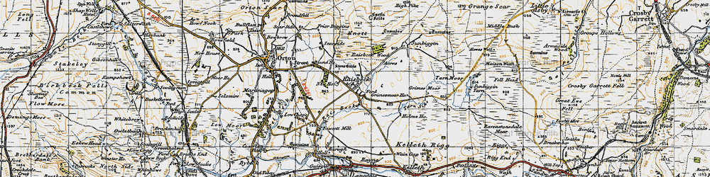 Old map of Acres in 1947