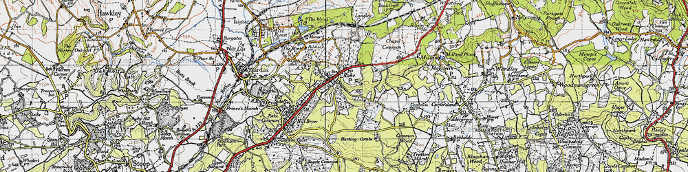 Old map of Rake in 1940