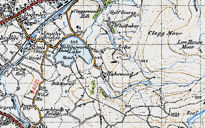 Old map of Whittaker in 1947