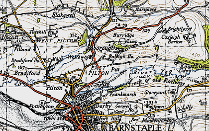 Old map of Westaway in 1946