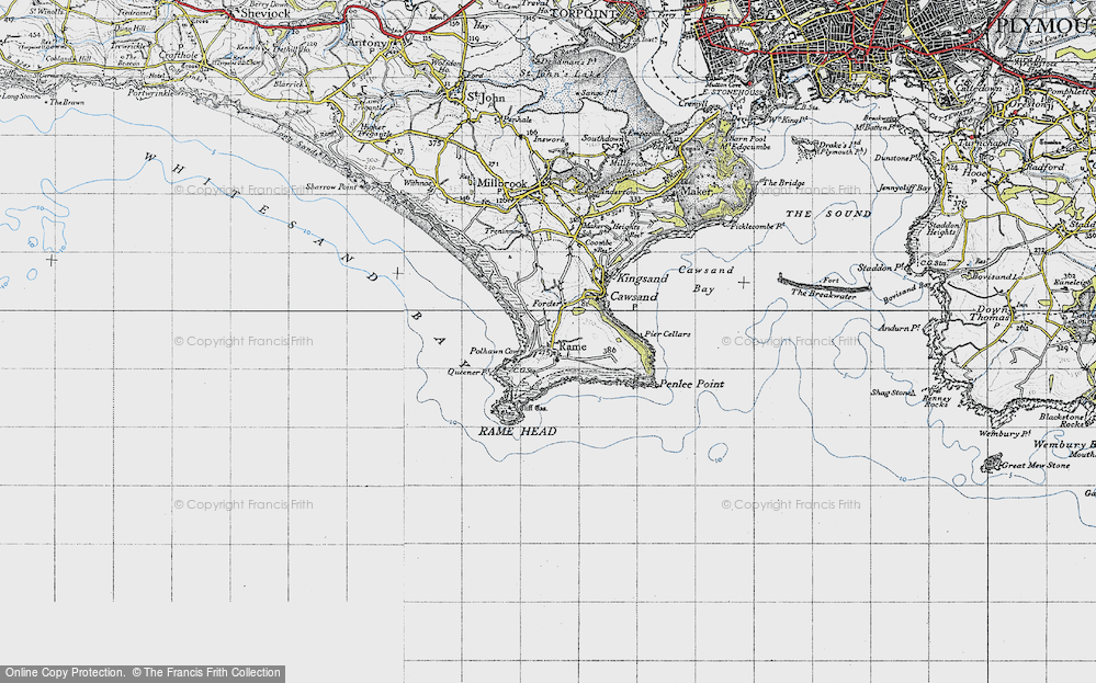 Old Map of Historic Map covering Lillery's Cove in 1946