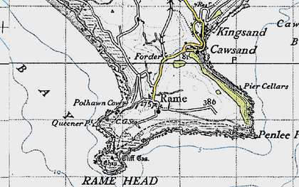 Old map of Rame in 1946