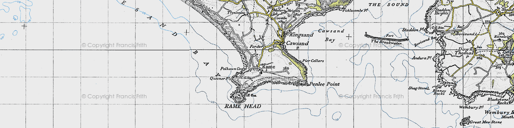 Old map of Lillery's Cove in 1946