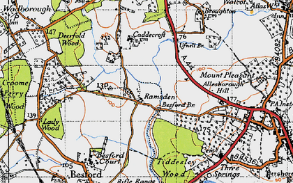 Old map of Allesborough Hill in 1946