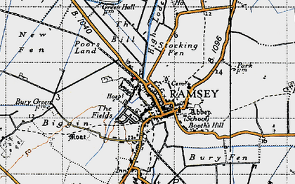 Old map of Ramsey in 1946