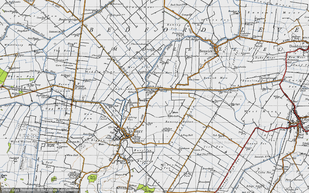 Old Map of Historic Map covering Ash Drain in 1946