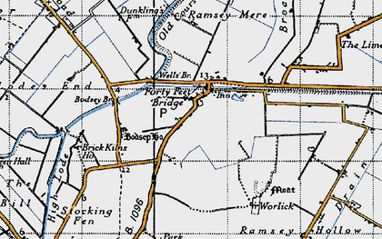 Old map of Ash Drain in 1946