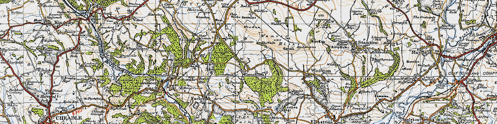 Old map of Wootton Park in 1946