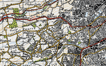 Old map of Hallam Head in 1947