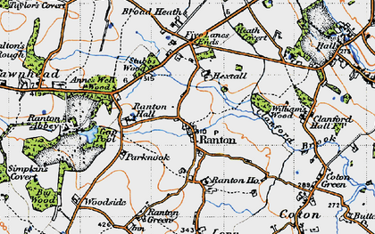 Old map of Williams's Wood in 1946