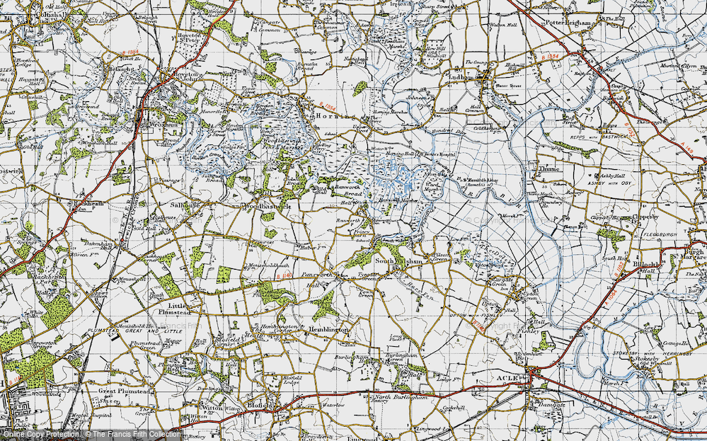 Old Map of Ranworth, 1945 in 1945