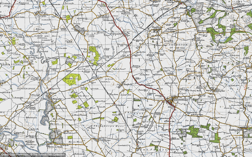 Old Map of Historic Map covering Baldrence in 1947