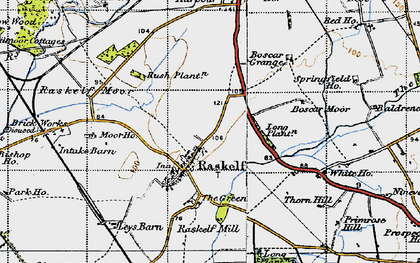 Old map of Leys Barn in 1947