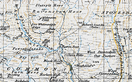 Old map of Alderson Seat in 1947