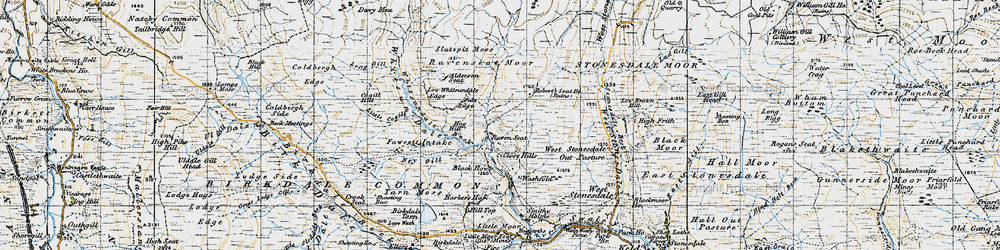 Old map of Whitsun Dale in 1947