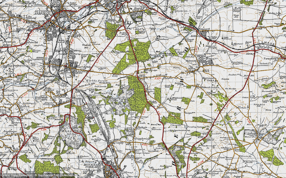 Old Map of Historic Map covering Abbey Wood in 1947