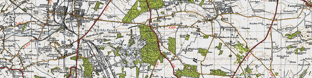 Old map of Abbey Wood in 1947