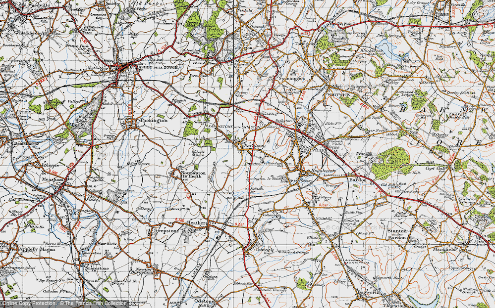 Old Map of Historic Map covering Alton Grange in 1946