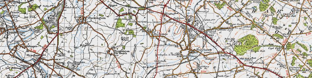Old map of Alton Grange in 1946