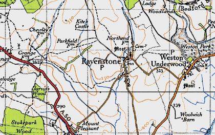 Old map of Ravenstone in 1946