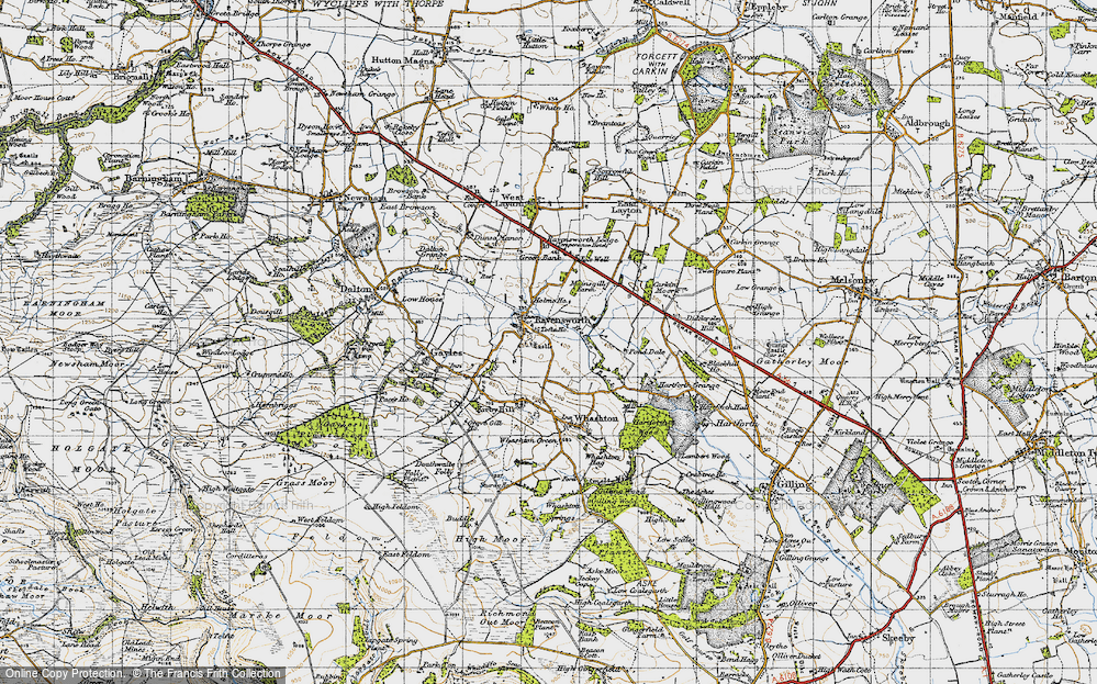 Old Map of Historic Map covering Tofta Ho in 1947