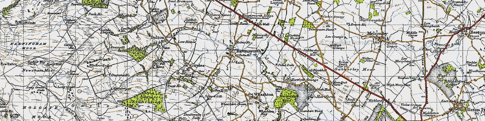 Old map of Ravensworth in 1947