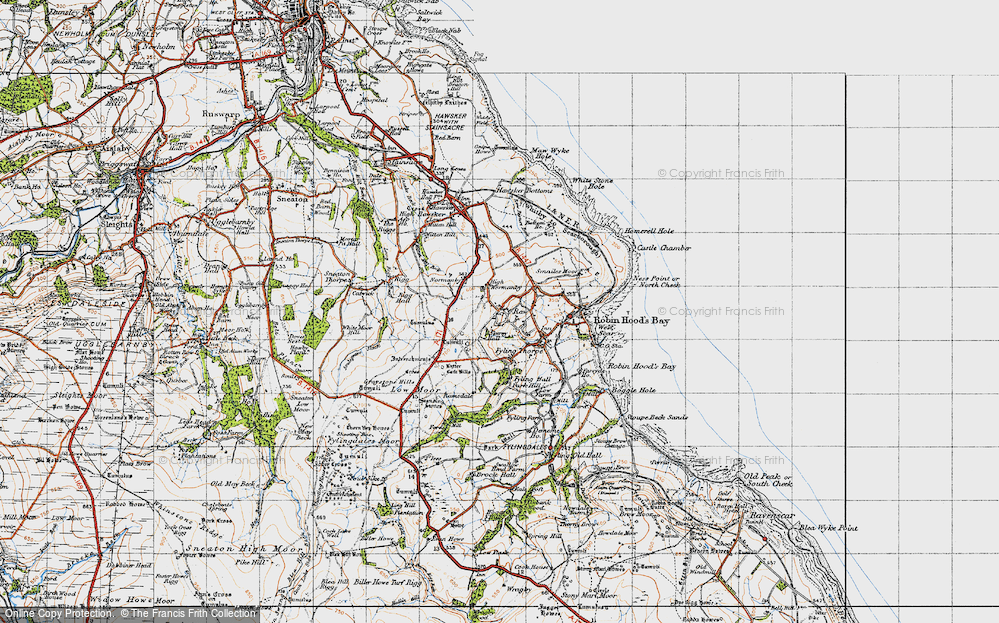 Old Map of Historic Map covering Latter Gate Hills in 1947