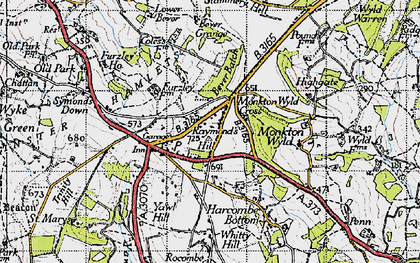 Old map of Whitty Hill in 1945