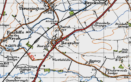 Old map of Rearsby in 1946