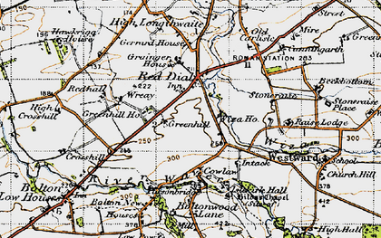 Old map of Wiza Beck in 1947