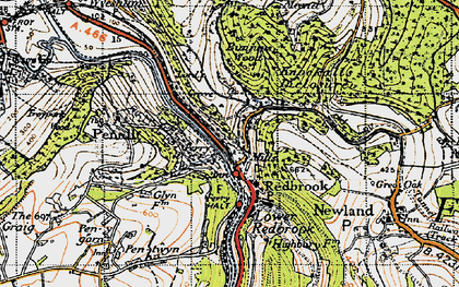 Old map of Redbrook in 1946