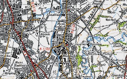 Old map of Reddish in 1947