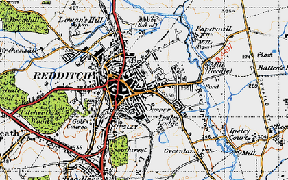Map Of Redditch Redditch photos, maps, books, memories   Francis Frith