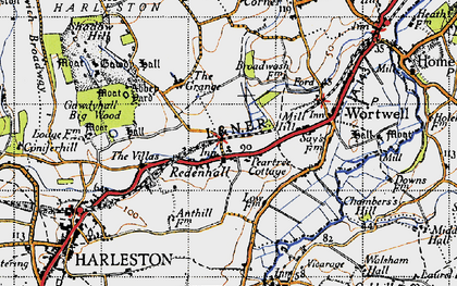 Old map of Abbey Yard in 1946