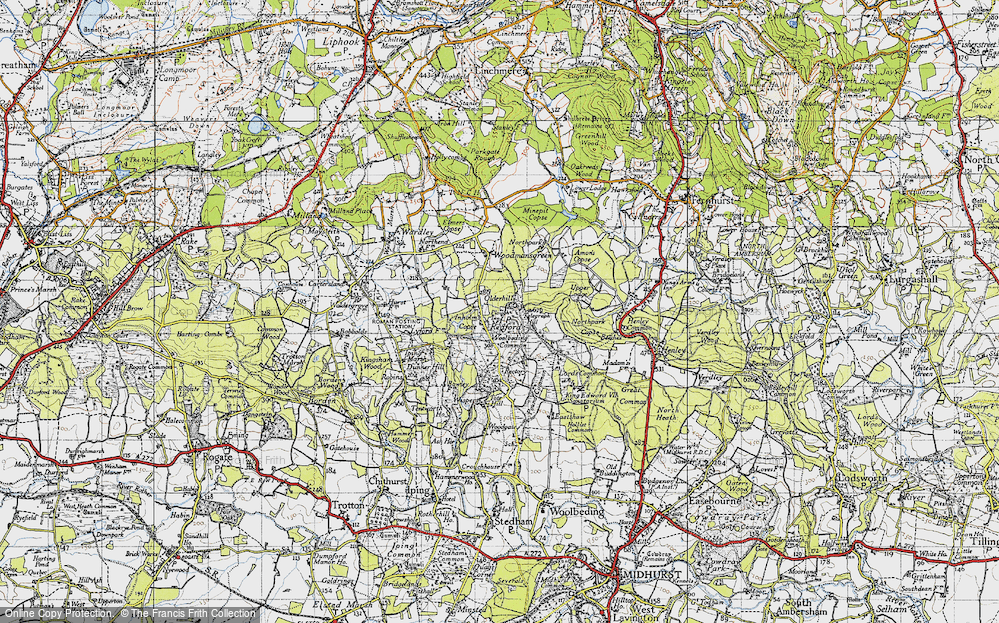 Old Map of Historic Map covering Woolbeding Common in 1940