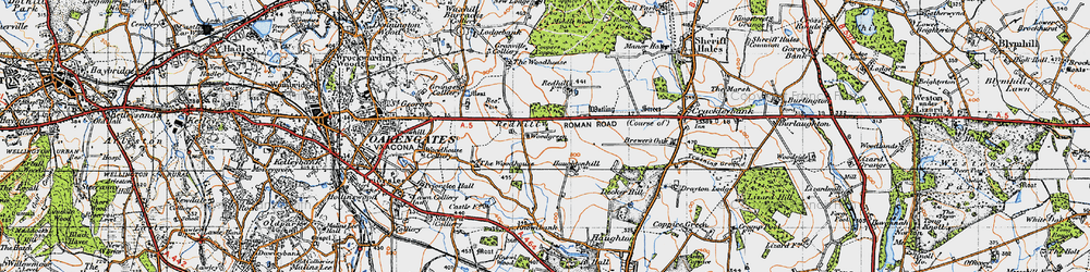 Old map of Woodhouse, The in 1946