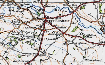 Old map of Acton Hill in 1946