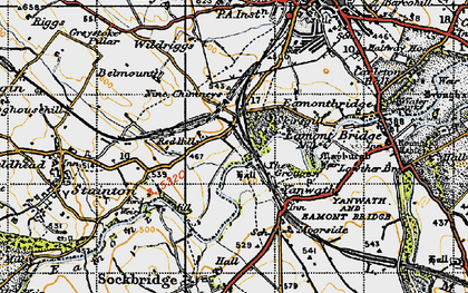 Old map of Yanwath in 1947