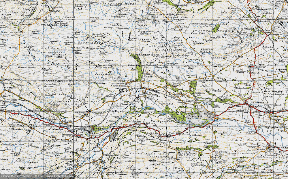 Old Map of Historic Map covering Wood End in 1947