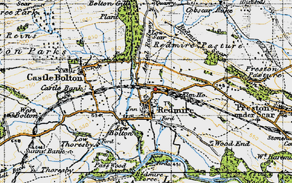 Old map of Redmire in 1947